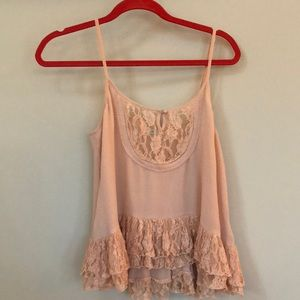 Pink polyester top